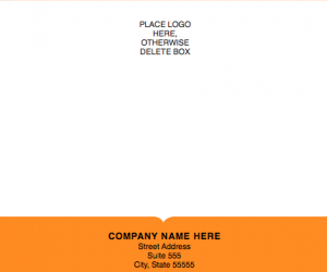 Modern Solid Shipping Label Template