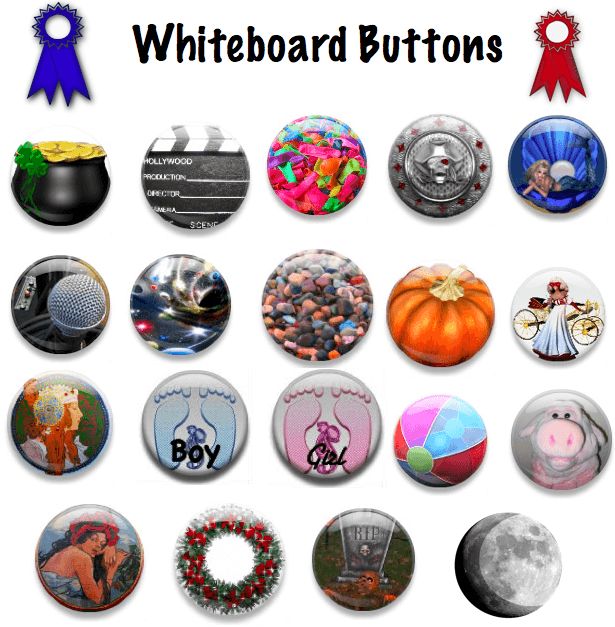 Whiteboard Buttons Design Elements
