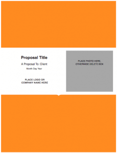 Modern Solid Proposal Template For Pages