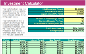 Investment Calculator Template