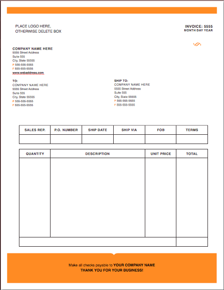 Modern-Solid Invoice Template