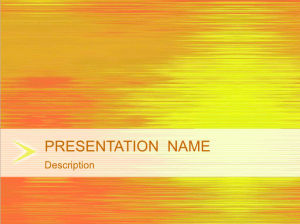Sunset Reflection Keynote Template