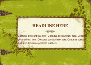 Weathered Postcard Template