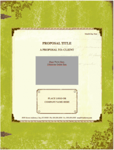 Weathered Proposal Template