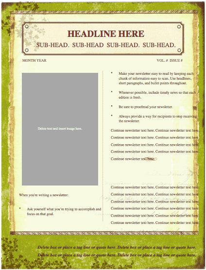 Weathered Newsletter Template
