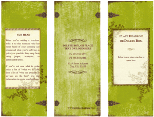 Weathered Tri Fold Brochure Template