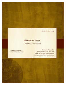 Traditional Elegance Proposal Template