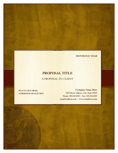Traditional Proposal Template For Pages