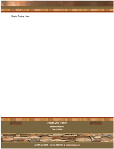 Realty Stylish Letterhead Template