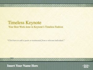 Timeless Legal Presentation Template