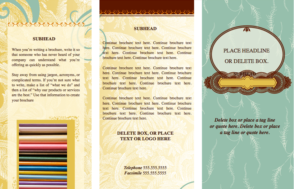 Pages Trendy Eclectic Tri-Fold Brochure Template