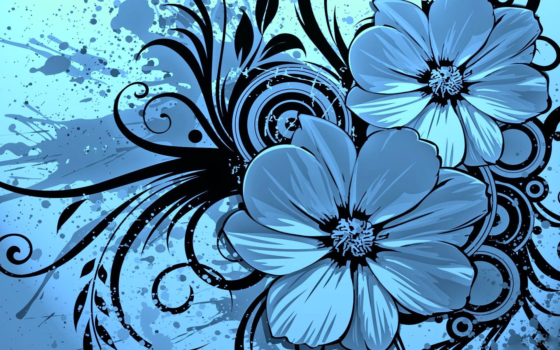 Keynote Blue Floral Template