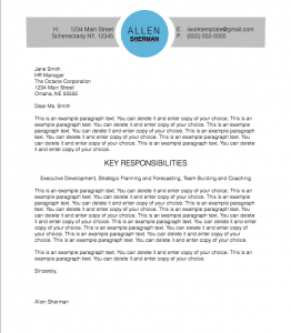 Modern Circle Cover Letter Template for Pages