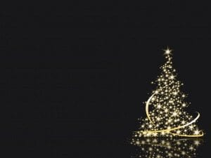White Light Christmas Tree Keynote Theme