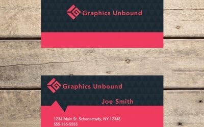 Black Diamond Red Business Card Template