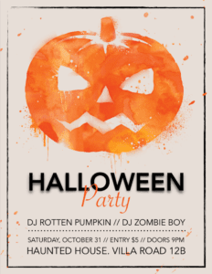 Scary Pumpkin Halloween Flyer