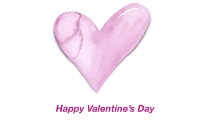 Pink Watercolor Heart Valentine's Day Card
