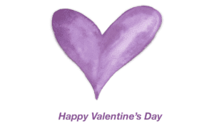 Purple Watercolor Heart Valentine's Day Card Templates