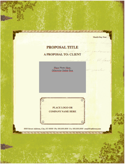 Weathered Proposal Template for Pages
