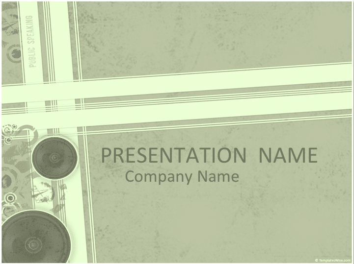 Audio Buzz Keynote Template