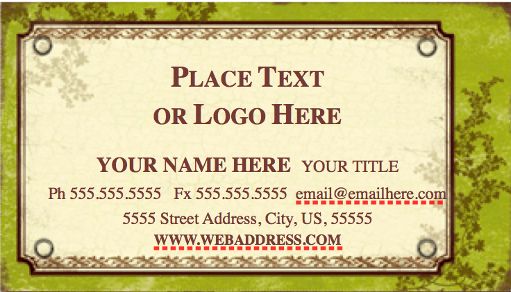 Weathered Business Card Template