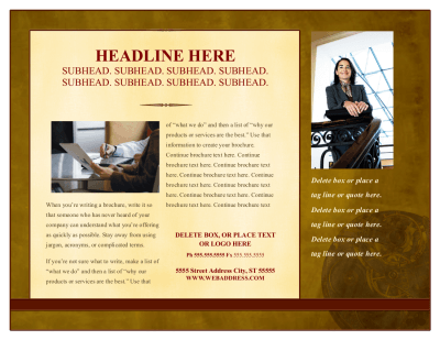 Traditional Horizontal Flyer Template For Pages