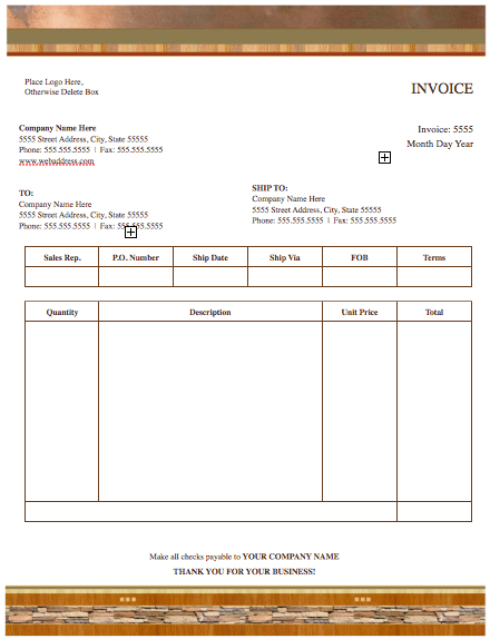 Realty Stylish Invoice Template