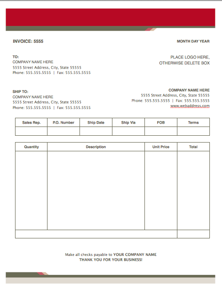 Health Stylish Invoice Template For Pages