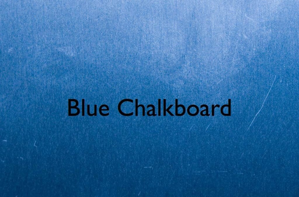Blue Chalkboard Keynote Template