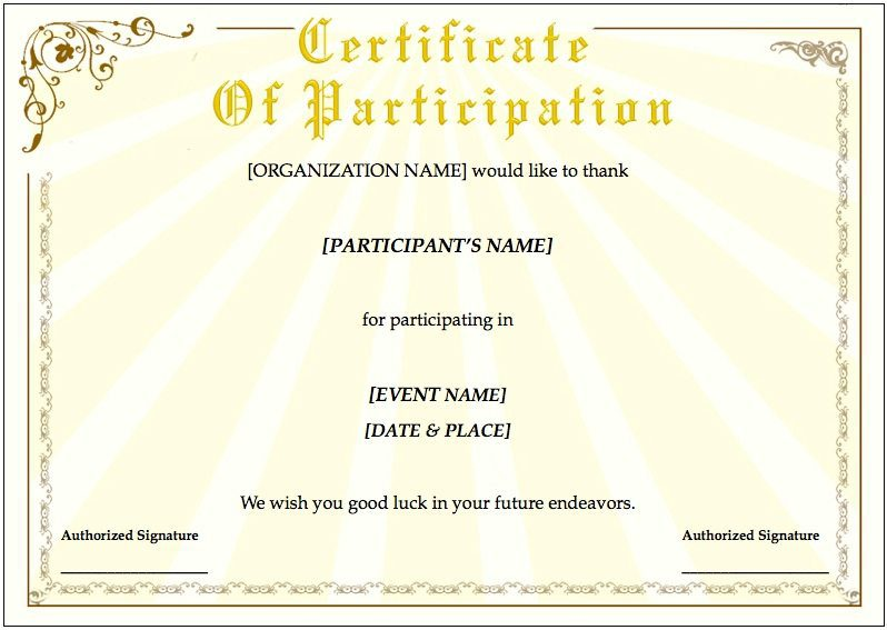 Training Certificate Template for Pages