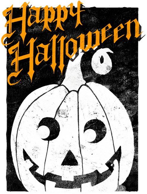 Halloween Card Template for Pages