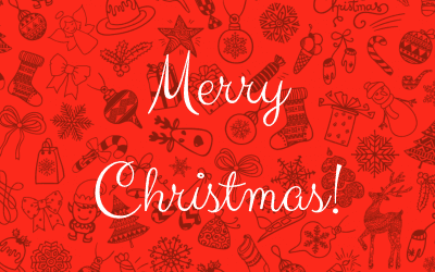 Red Doodles Christmas Card