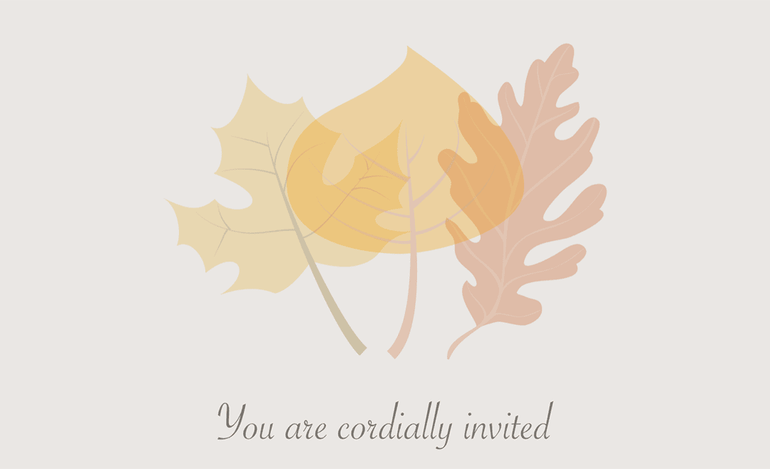 Pages Autumn Wedding Invitation Template