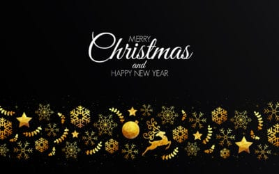 Low Poly Golden Christmas Decoration Christmas Card Template for Pages